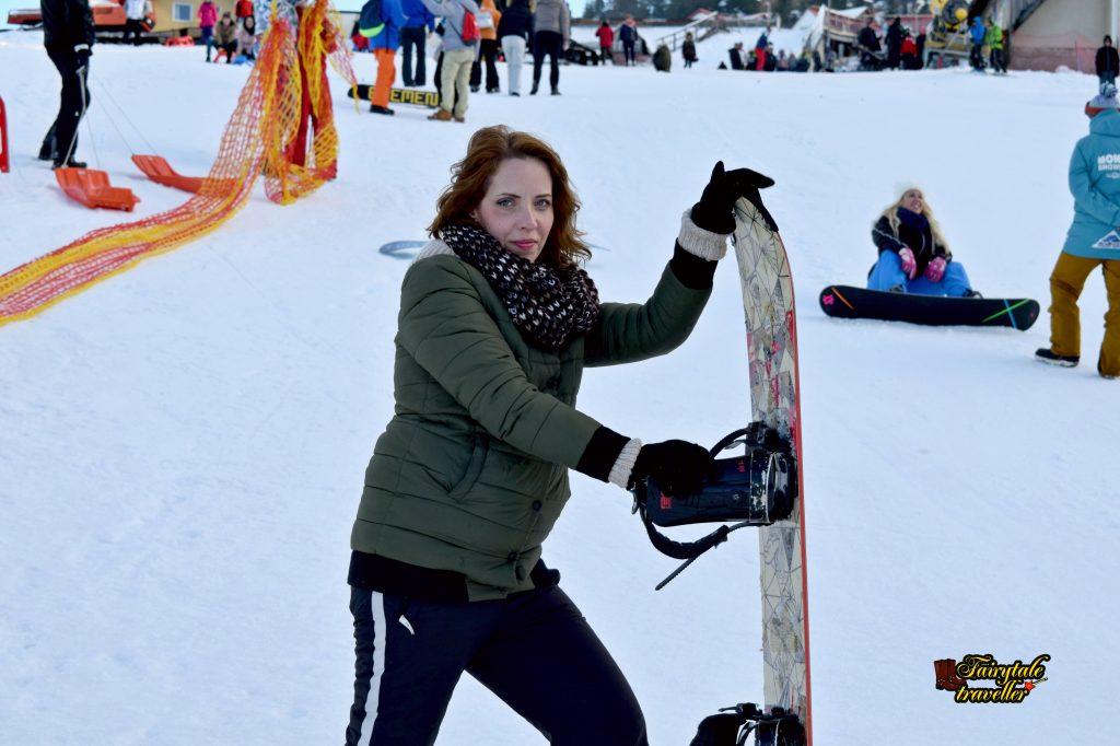 Ora de snowboard, Pârtia Sfântu Gheorghe