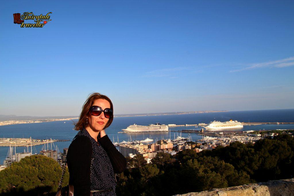 Peisaj de la Castelul Bellver, vedere spre portul din Palma, foto: Calator de Poveste