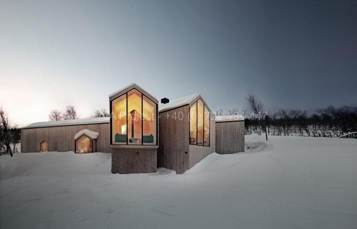 Cabana din Buskerud, Norvegia. Sursa: https://www.aia-proiect.ro
